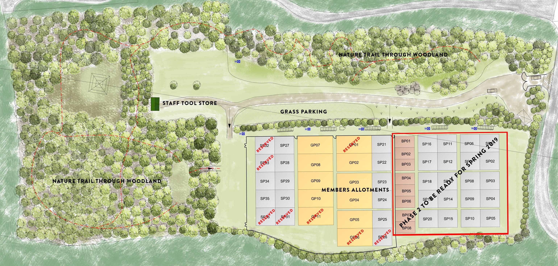 Location plan of the land at PoshLots - Much Hadham
